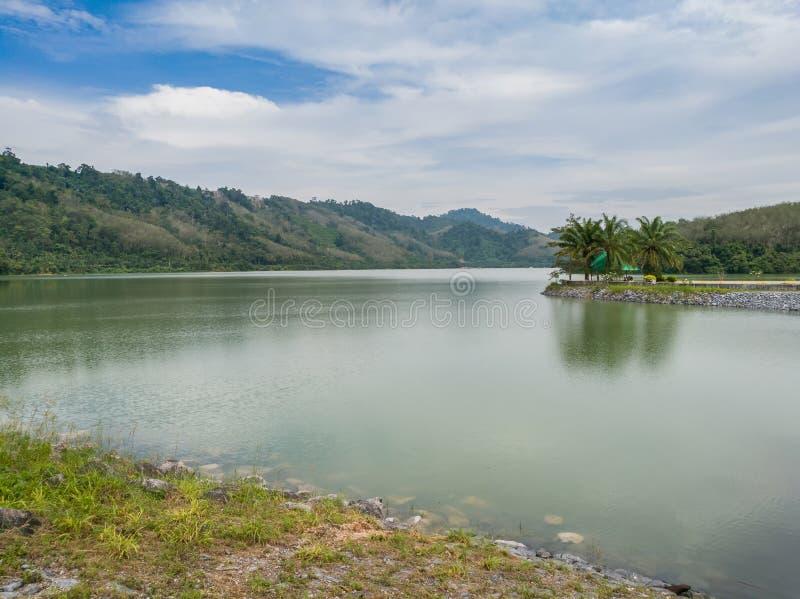 变紧密的具体水坝在泰国 图库摄影