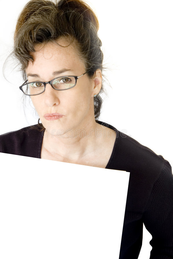 变老的企业中间名妇女 库存照片