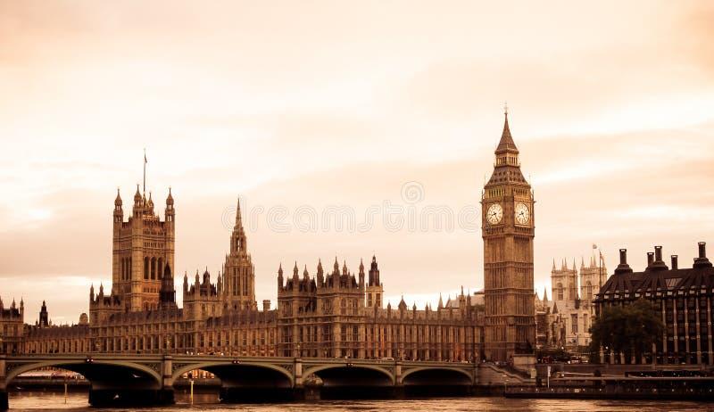 变老的伦敦视图 免版税库存图片