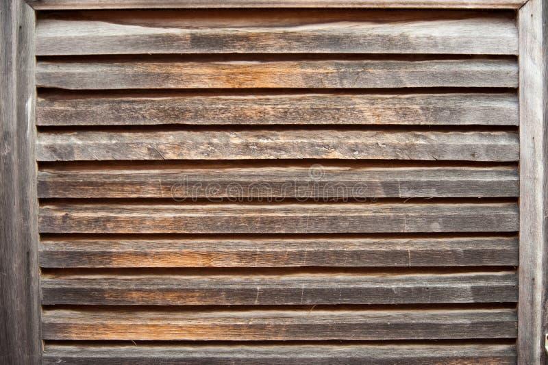 变老的快门木头 库存照片