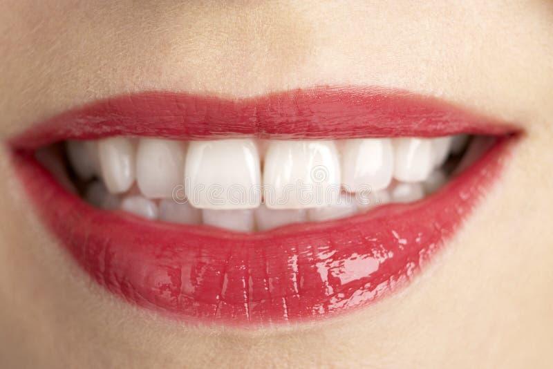 变老的接近的极其嘴唇妇女的中间s 免版税库存照片