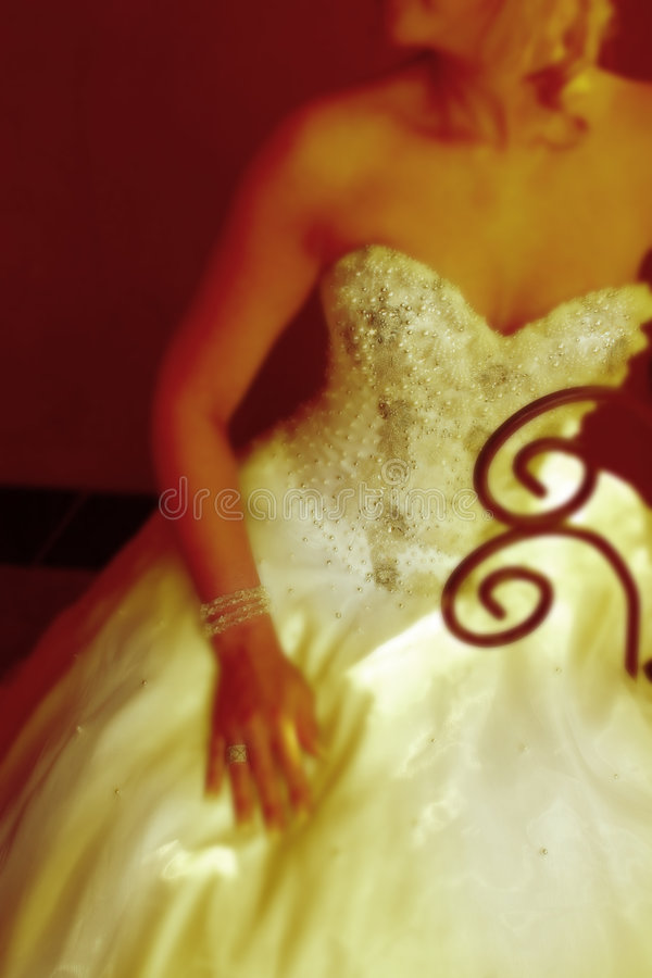 变老的新娘照片 免版税图库摄影