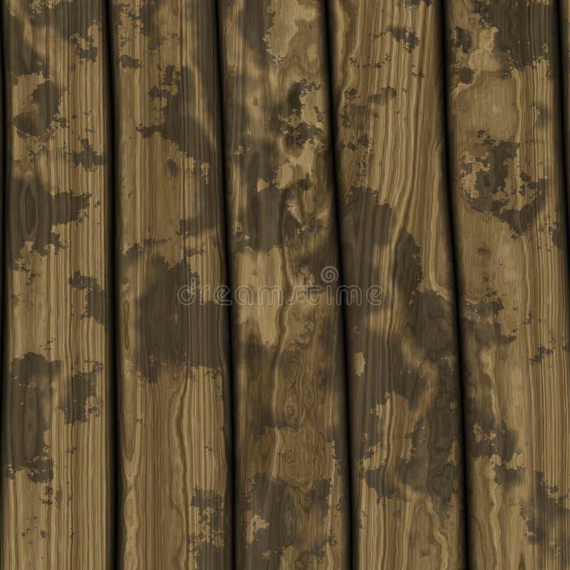 变老的木楼层 库存图片