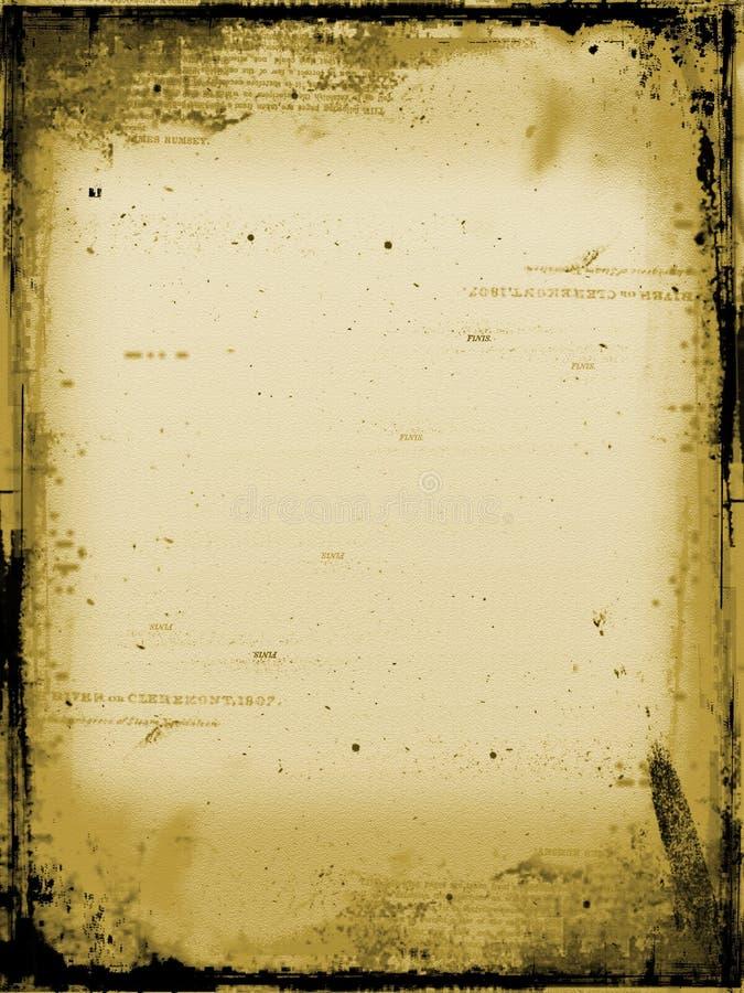 变老的纸张 库存例证