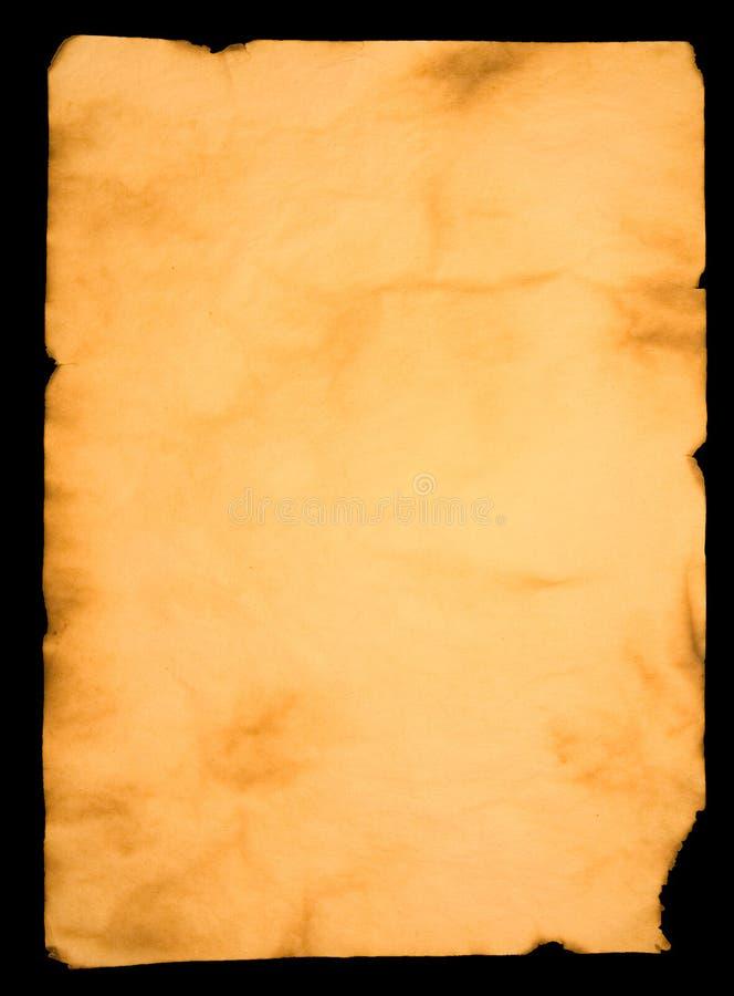 变老的纸张 图库摄影