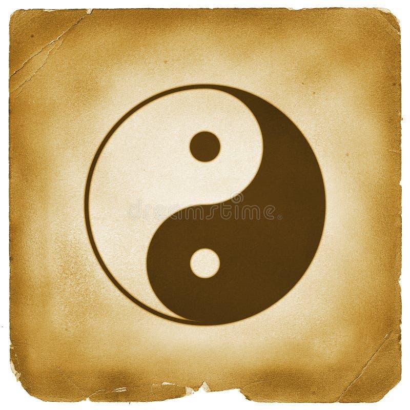 变老的纸符号杨yin 皇族释放例证