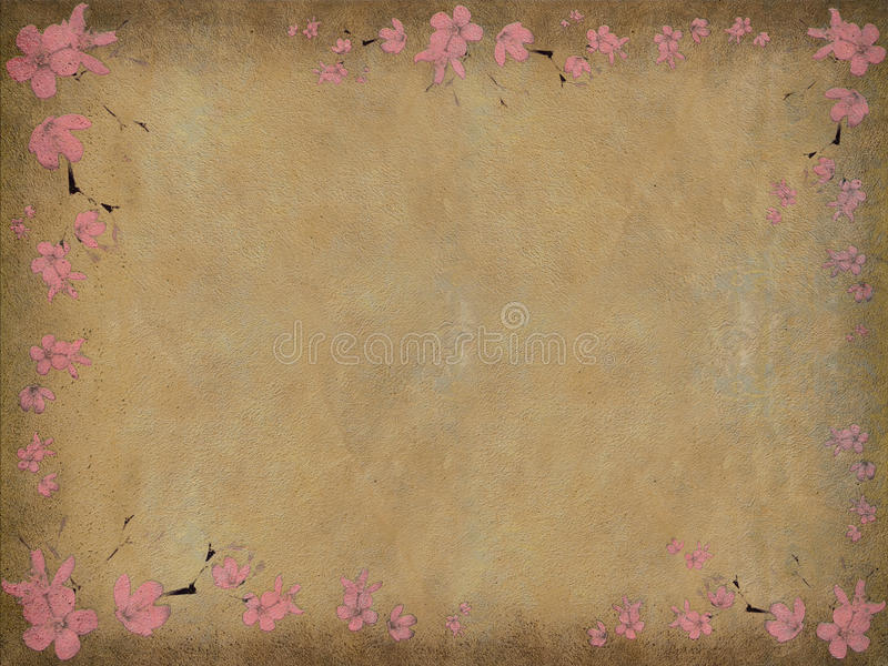 变老的背景黑色花卉桃红色打印 皇族释放例证