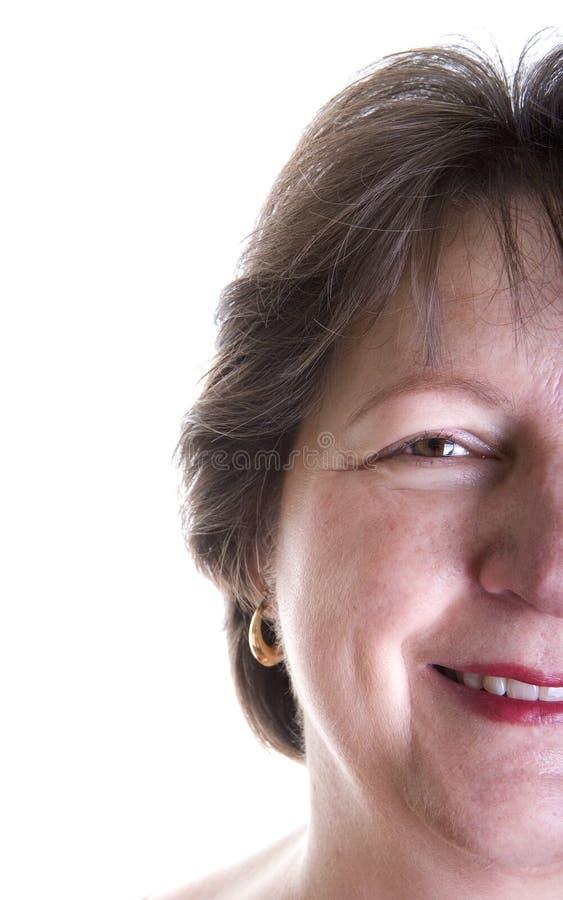 变老的表面半中间妇女 免版税库存照片