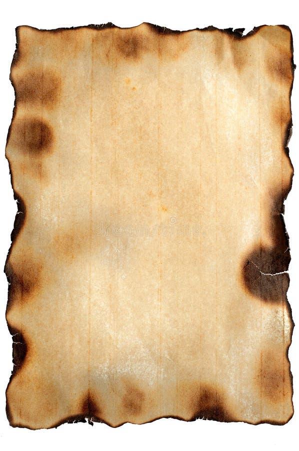 变老的被烧的纸纹理 免版税库存照片