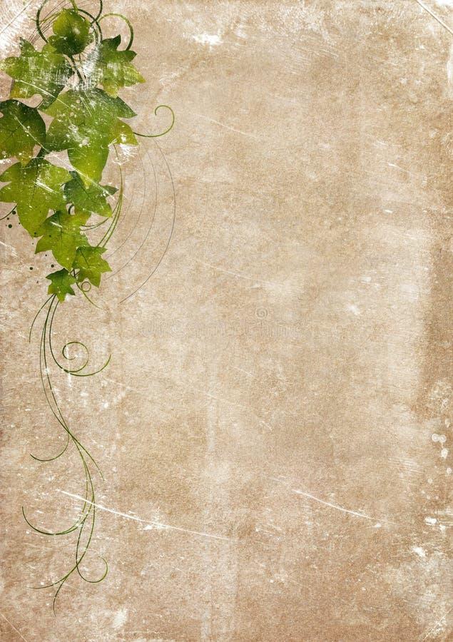 变老的装饰品纸张葡萄酒 向量例证