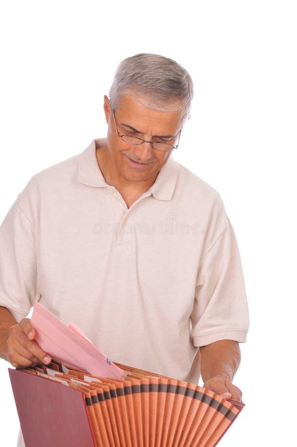 变老的配件箱文件人中间名 免版税库存照片