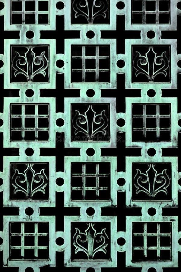 变老的铜-法国尾花模式 免版税库存图片