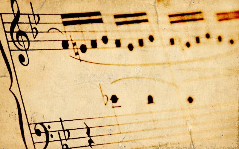变老的sheetmusic 免版税库存图片