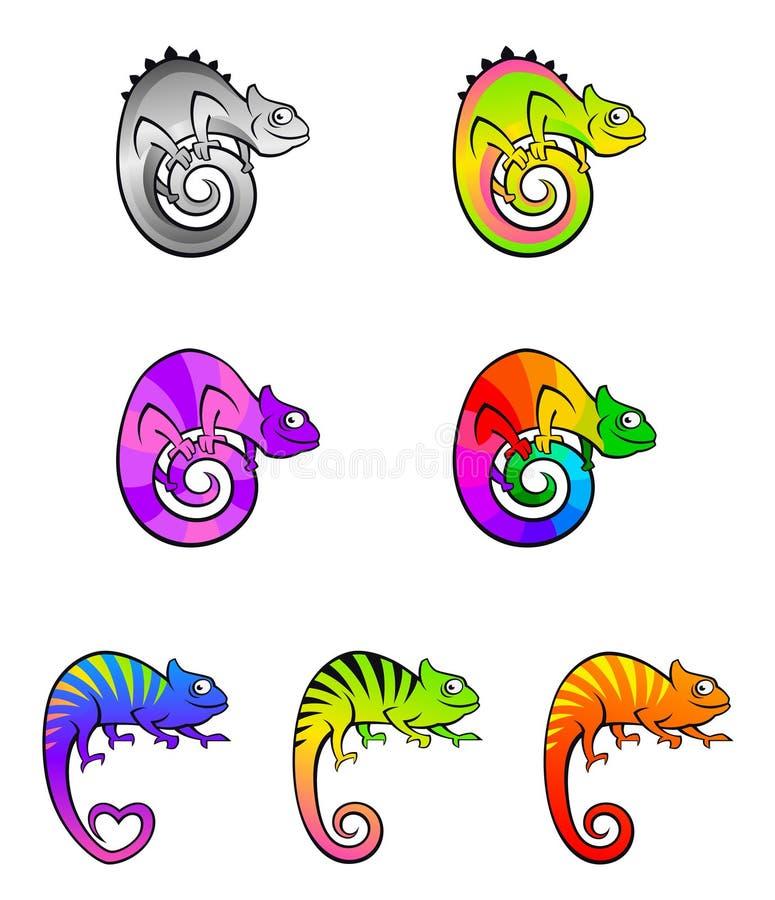 变色蜥蜴 向量例证