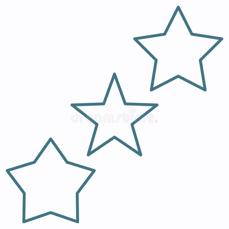 变薄线星最佳的对估计的veriation象 几何平的形状元素 ??EPS 10?? 概念传染媒介标志 库存例证