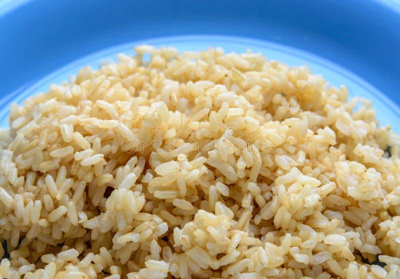 变褐煮熟的米 免版税库存图片