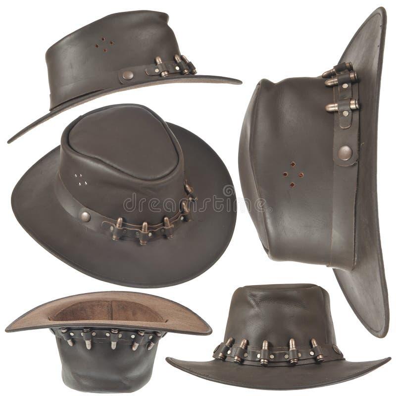 变褐牛仔帽集 库存图片