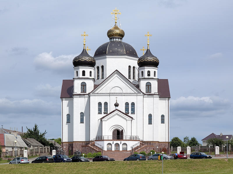 变貌大教堂在Smorgon,白俄罗斯 免版税图库摄影