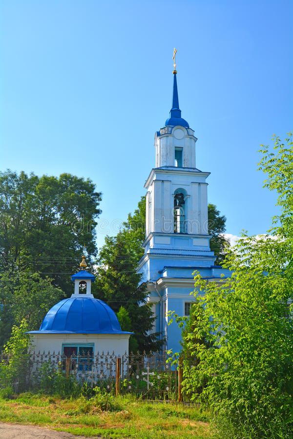 变貌的教会在Donskoy市 免版税图库摄影