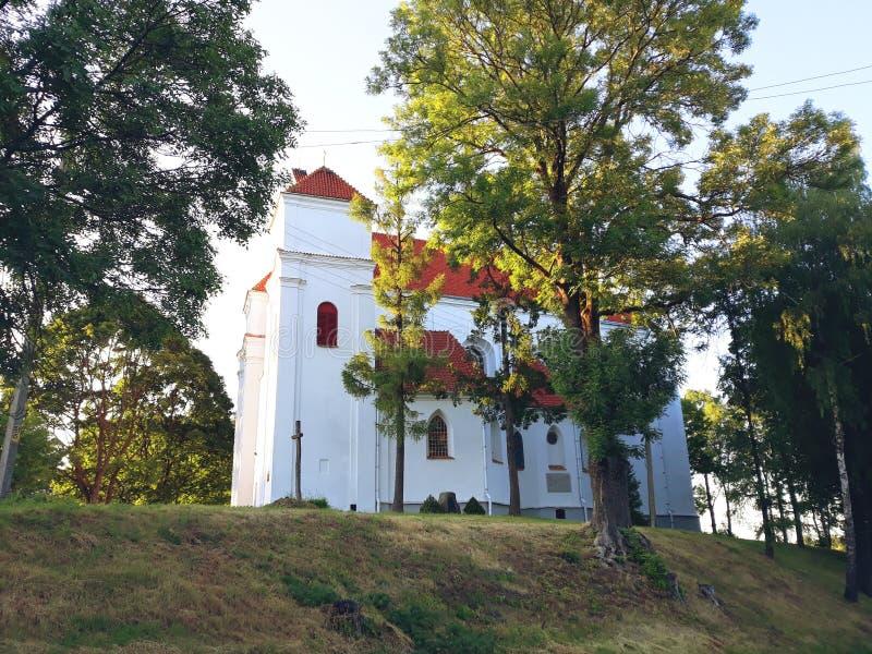 变貌罗马天主教堂在Novogrudok 库存图片