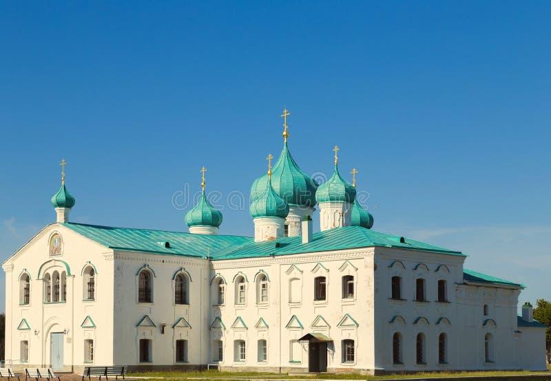 变貌St Svir修道院亚历山大的教会  库存照片