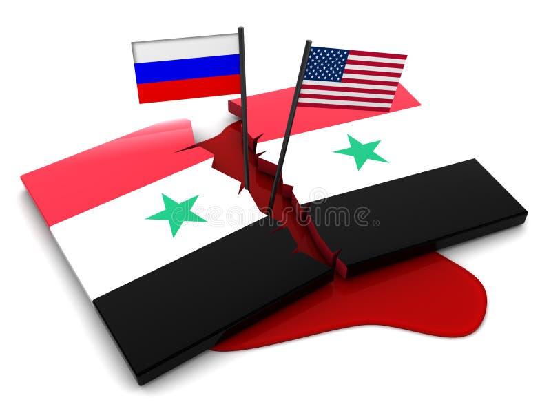叙利亚冲突 向量例证