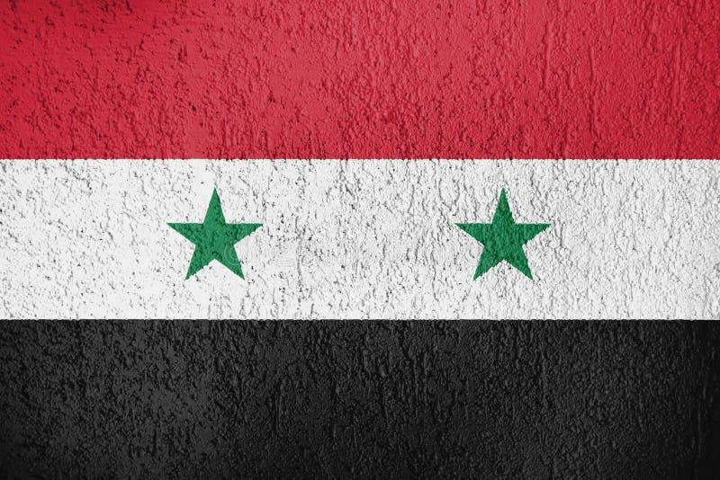叙利亚旗子纹理  向量例证