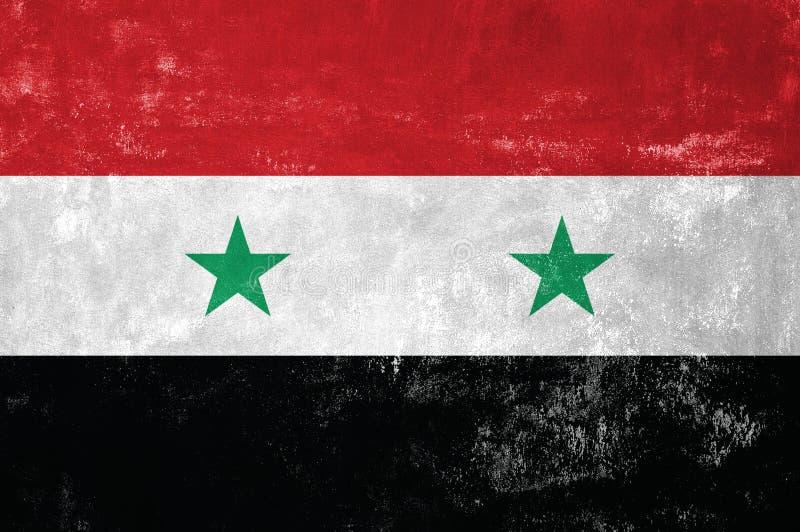 叙利亚旗子 库存照片
