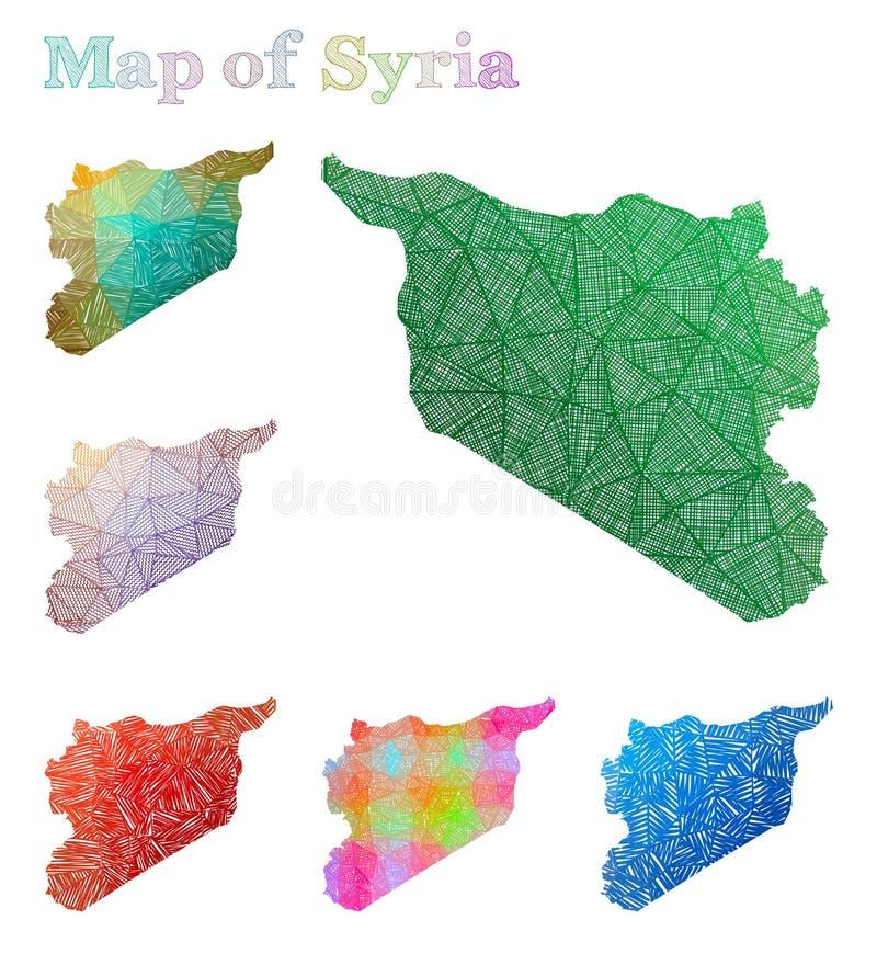 叙利亚的手拉的地图 库存例证