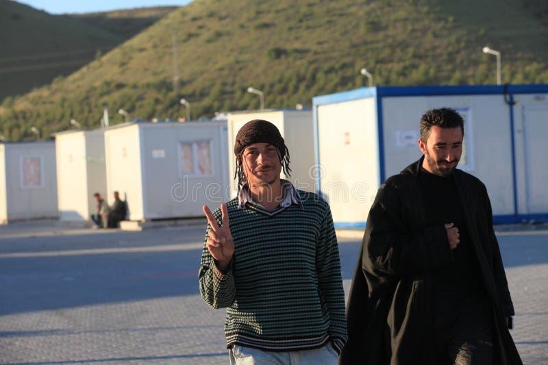 叙利亚难民营 免版税库存照片