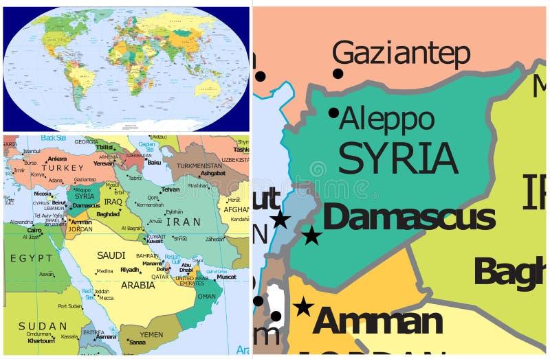 叙利亚&世界 皇族释放例证