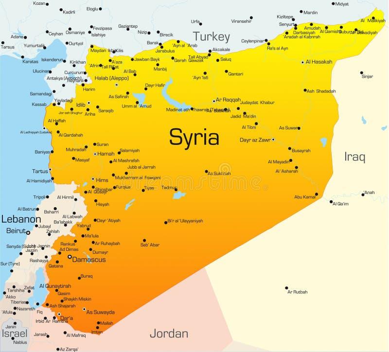 叙利亚 向量例证