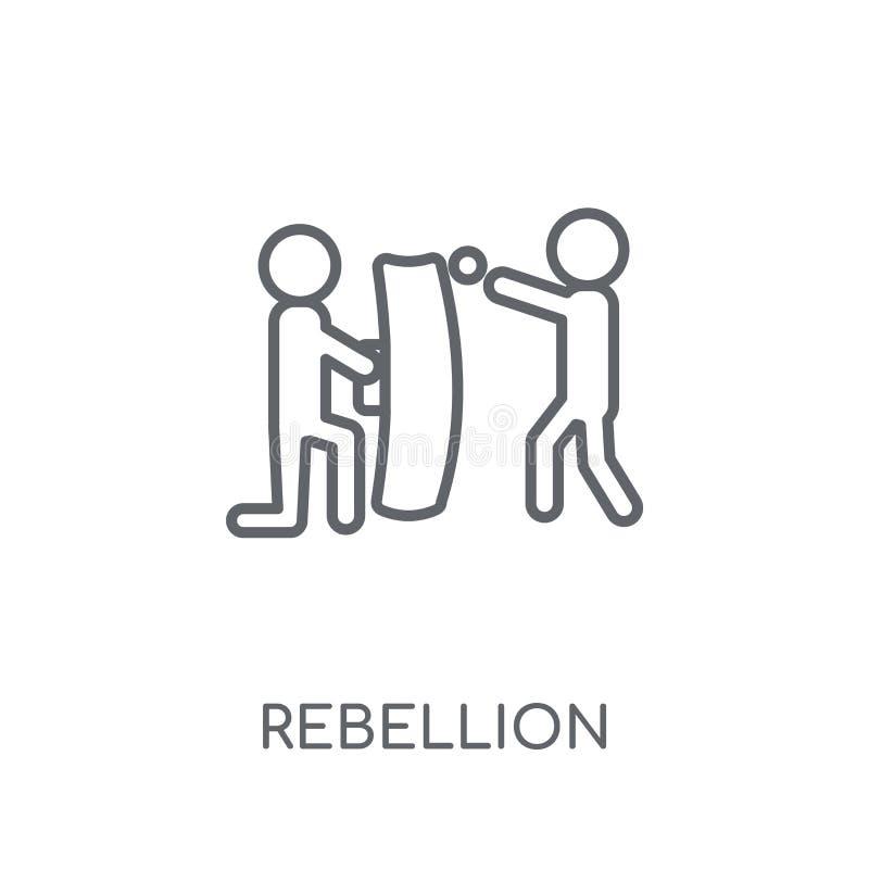 叛乱线性象 现代概述叛乱商标概念 皇族释放例证