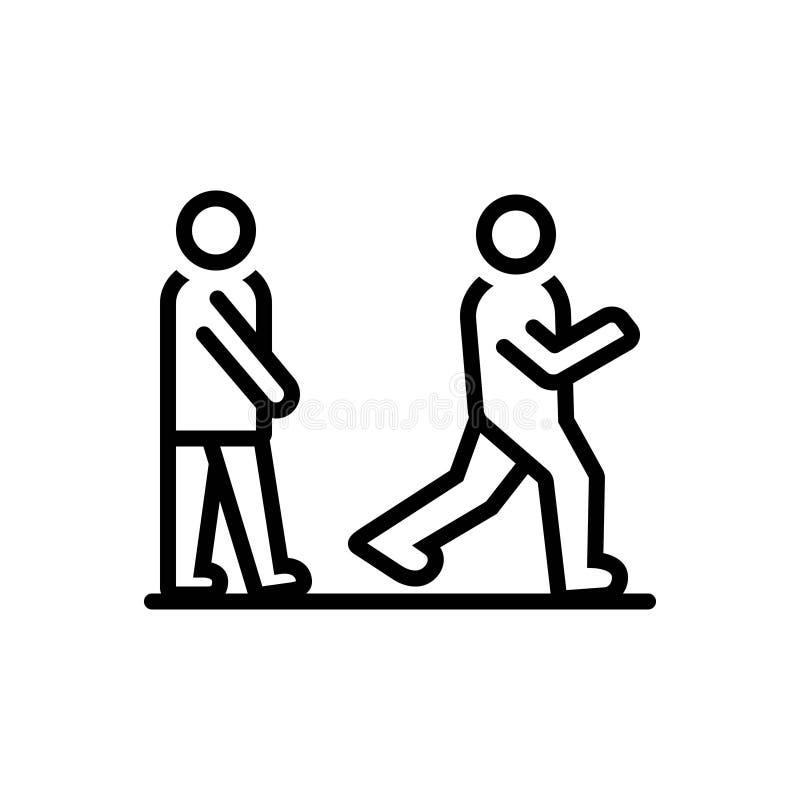 口号、形容词和步行的黑线象 向量例证