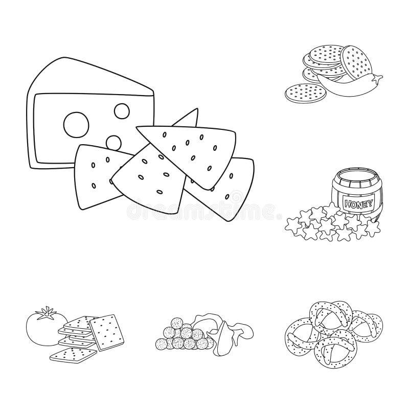 口味和嘎吱咬嚼的商标传染媒介设计  r 向量例证