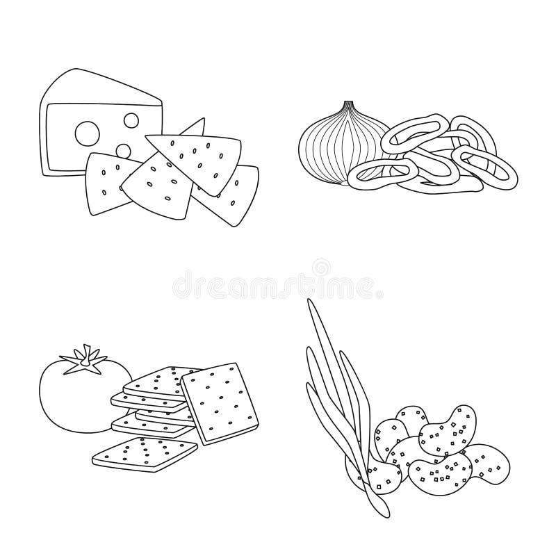 口味和嘎吱咬嚼的商标被隔绝的对象  o 库存例证