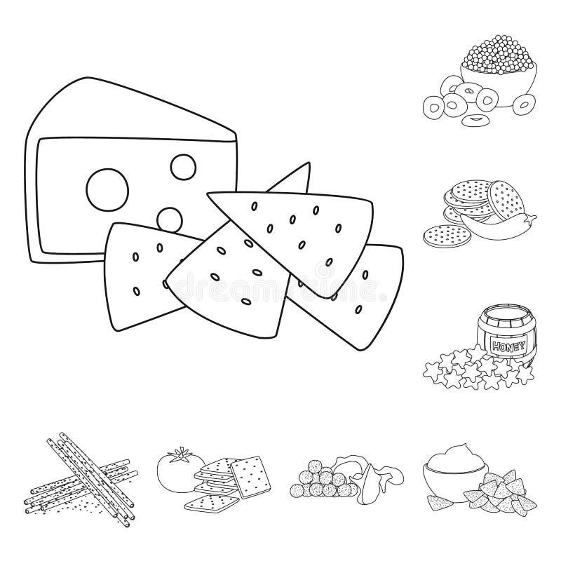 口味和嘎吱咬嚼的标志的传染媒介例证 r 皇族释放例证