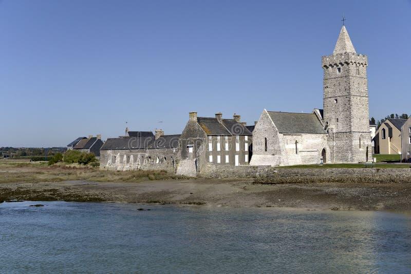 口岸保释金教会在法国 免版税图库摄影