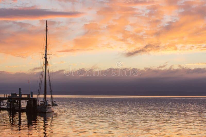 口岸唐森海湾华盛顿 免版税库存图片