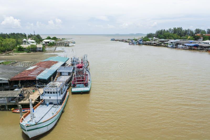 口岸在泰国湾 免版税库存照片