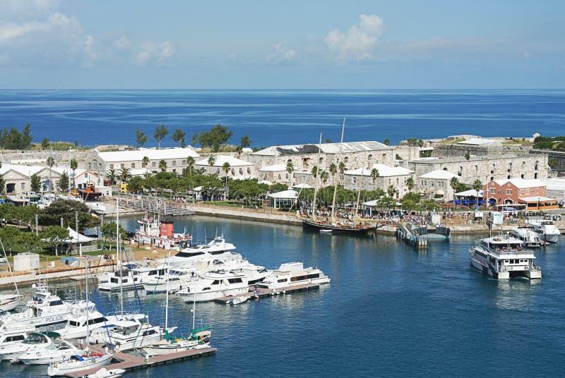 口岸在百慕大海岛 免版税库存照片