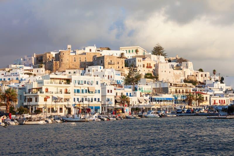 口岸在纳克索斯,希腊 库存照片