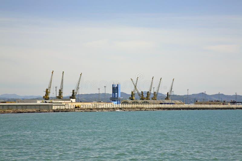 口岸在都拉斯 亚得里亚海 通风 库存图片