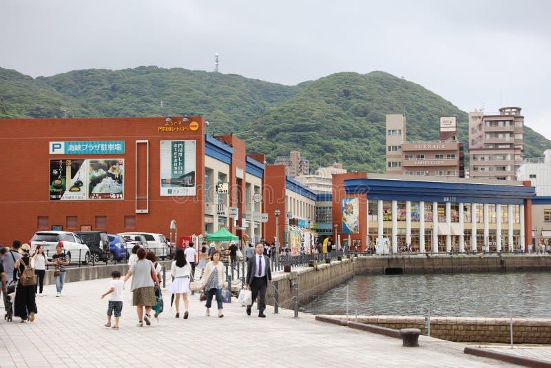 口岸- Mojiko减速火箭的镇 免版税库存照片