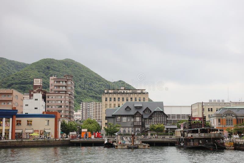 口岸- Mojiko减速火箭的镇 库存照片