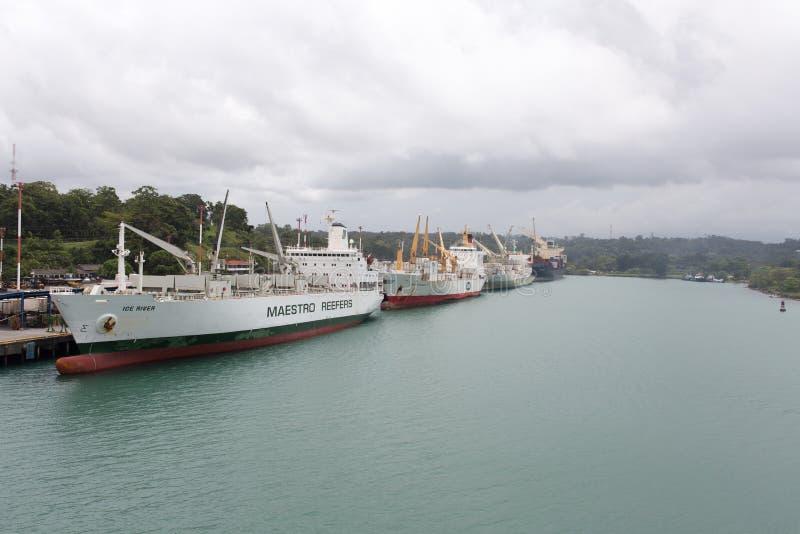 口岸Moin,哥斯达黎加,收帆水手 免版税库存照片