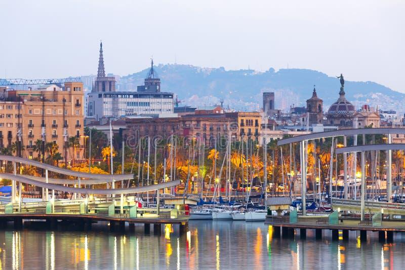 口岸Vell在早晨 巴塞罗那 免版税库存照片
