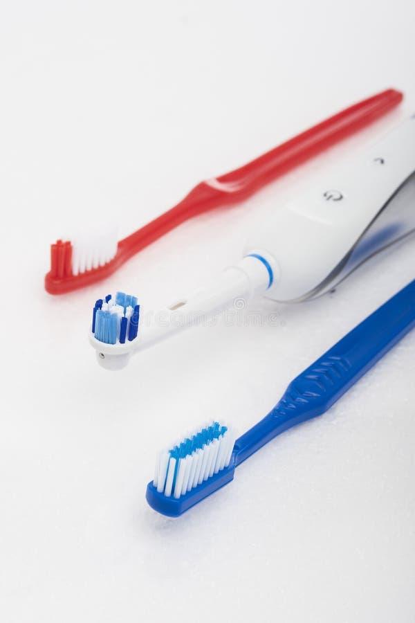 口腔卫生的牙齿产品 图库摄影