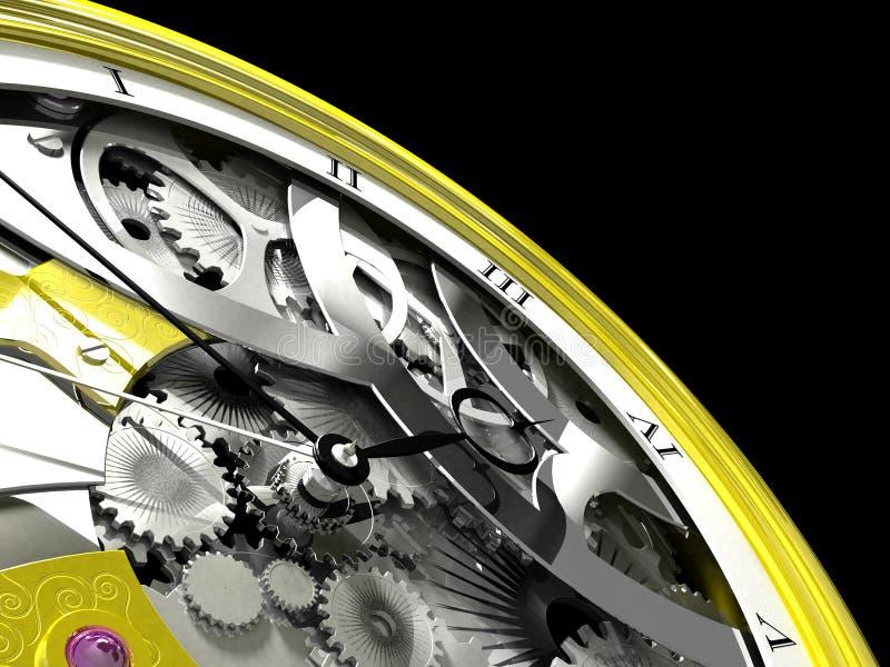 口袋steampunk手表 向量例证