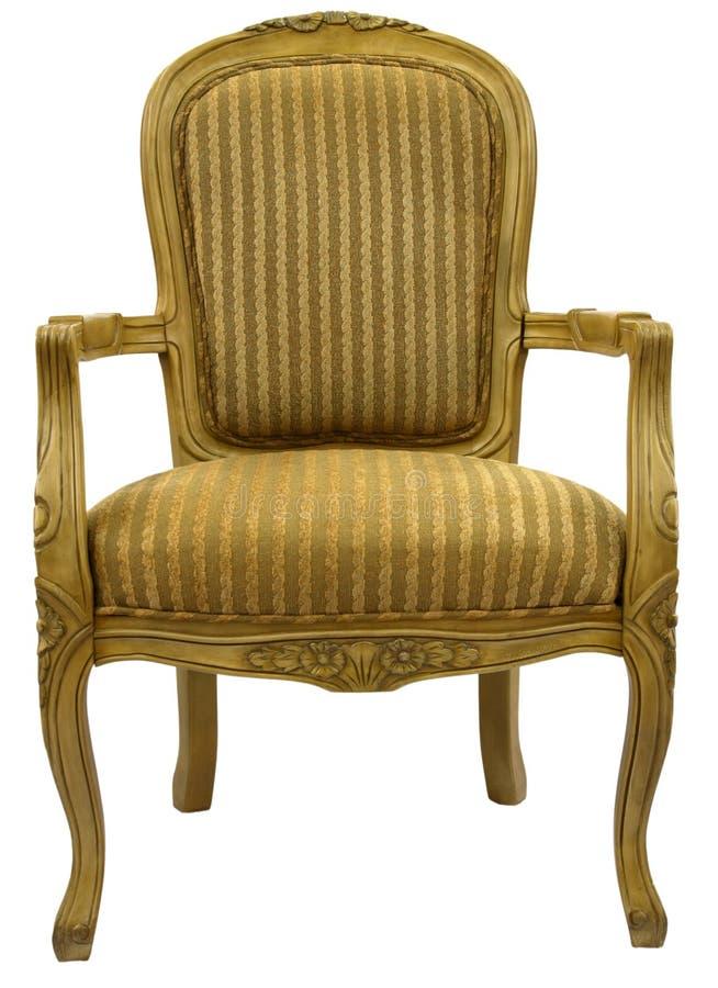 口音椅子完成金子 免版税库存图片